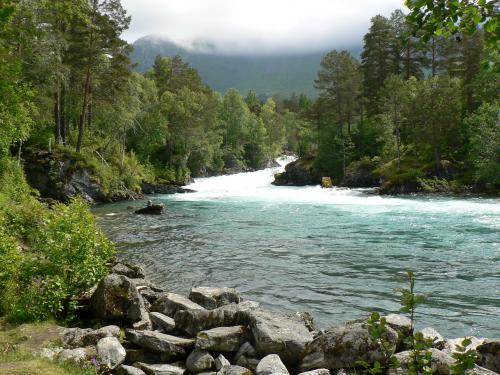 Eine Flussbiegung