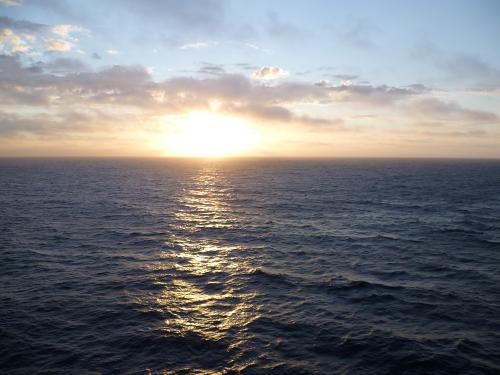 Naturschauspiel auf hoher See
